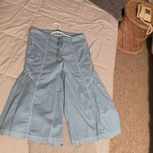 Blue Retro 70's Boho Harem Pants So Fun